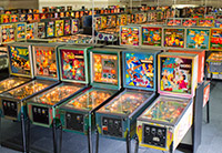 The pinball collection at the Museum of Pinball