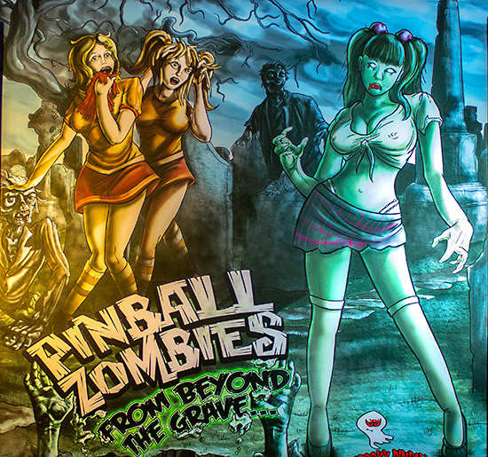 Spooky Pinball's Pinball Zombies from Beyond the Grave