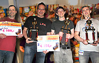 The top four in the Dutch Pinball Masters 2017