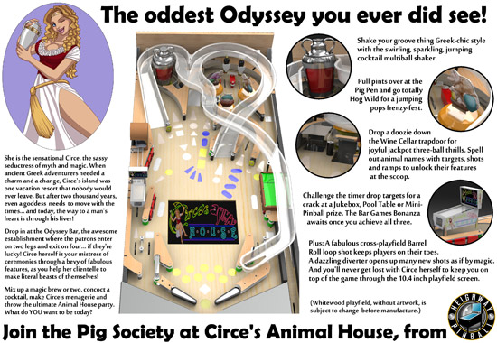 The flyer for Circe's Animal House