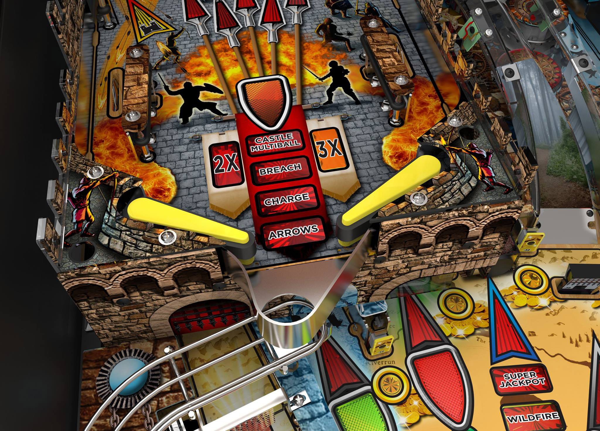 Pinball News   First and Free The exit onto the left ramp return wireform