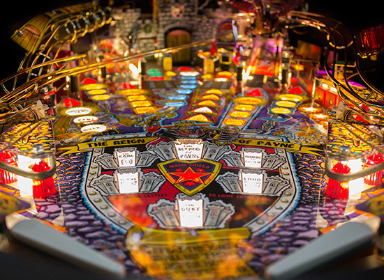 The LED lit playfield