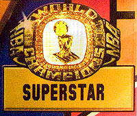 The superstar ring is lit