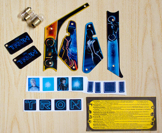 Contents of the Tron goodie bag