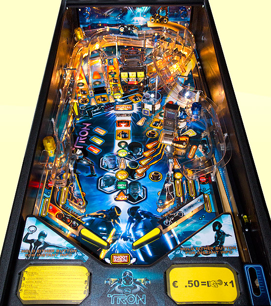 The Tron:Legacy playfield