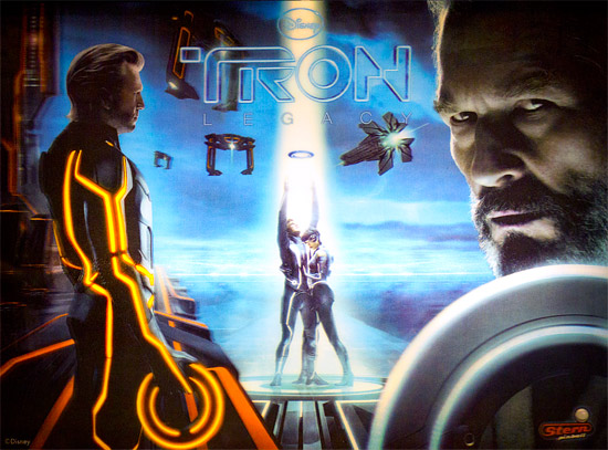 The 3D Tron:Legacy backglass