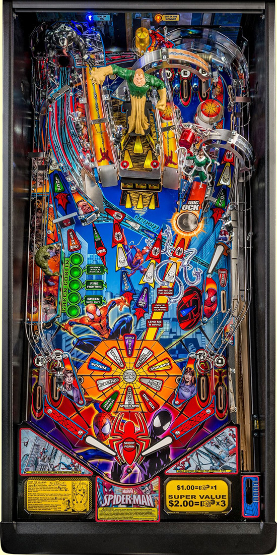 The Spider-Man Vault Edition playfield
