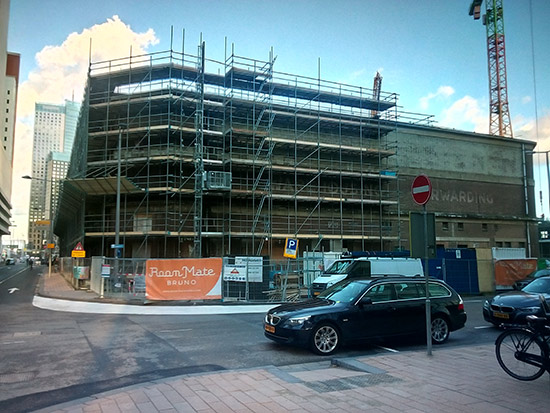 Renovationa and new construction on the way to the Museum