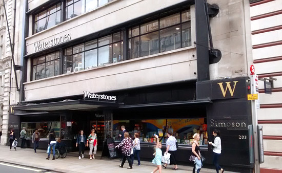 Waterstones in the old Simpsons of Piccadilly building