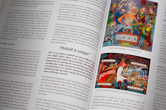 Pages from Pinball Magazine's first issue