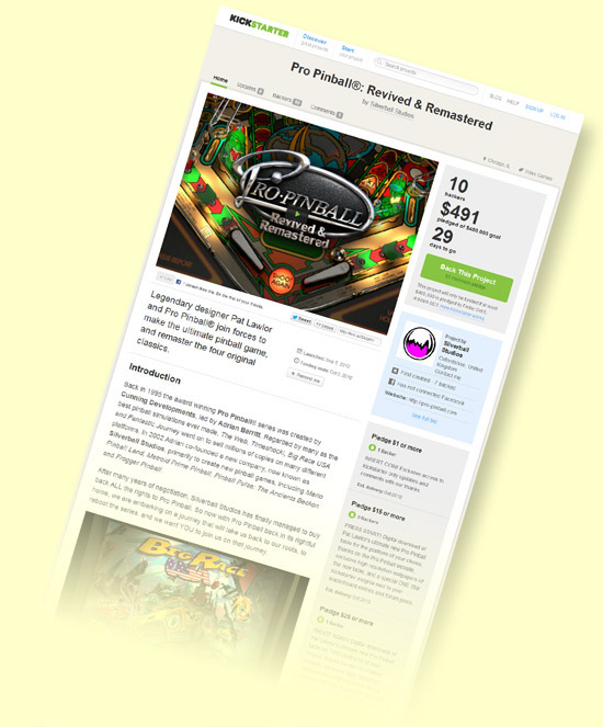 The Pro Pinball fundraising campaign