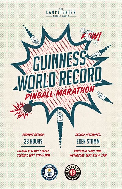 Promotional material for the world record attempt