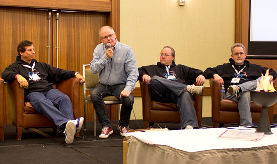 Jack Guarnieri, Gary Flower (moderator), Keith Johnson & Greg Freres