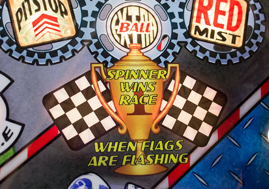 Shoot the spinner in the centre lane to win a race