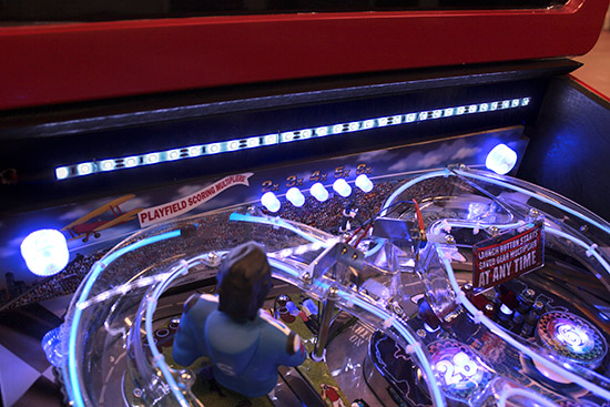 Playfield lighting together with two flashers