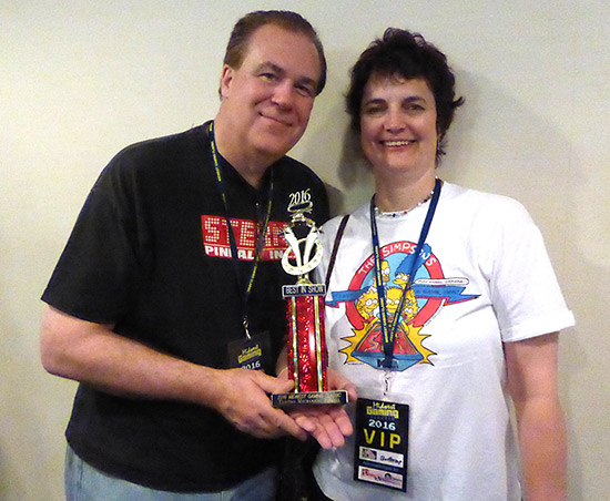 Winners of the Best Electromechanical Pinball, Don and Liz Caldwell