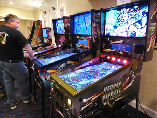 Custom Virtual Pinball games were available to play too