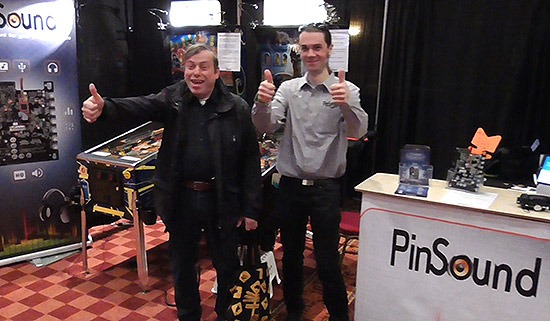 Ad Jonker with Nicolas from PinSound