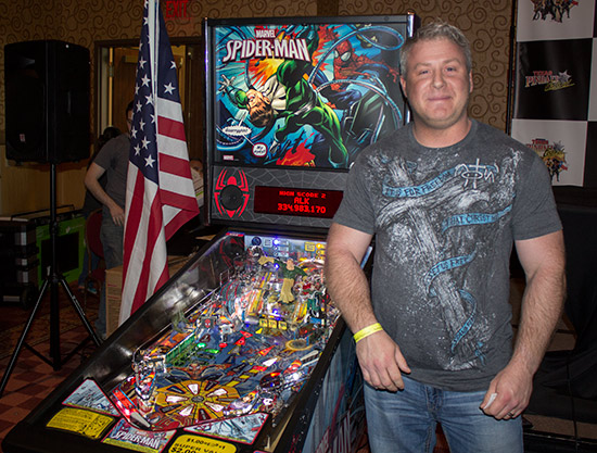 Ron with his prize of a brand new Spider-Man Vault Edition