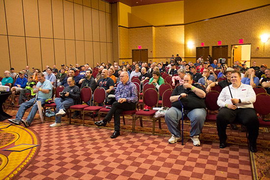 It was a packed house for Steve's seminar