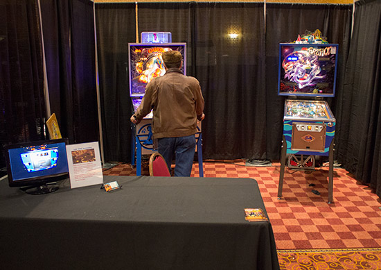 Total Pinball Restorations' stand