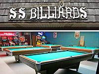 The original SS Billiards sign