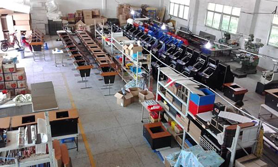 Video games in production at the Homepin factory