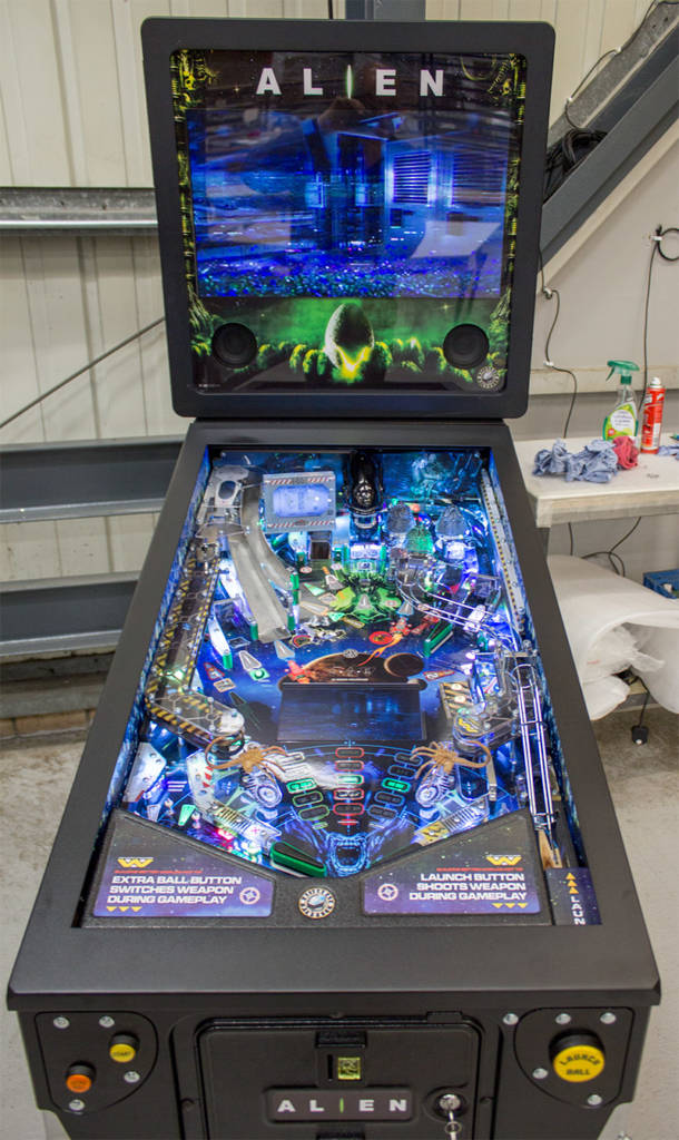 Alien Pinball at the Heighway Pinball factory