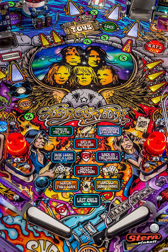 The Aerosmith playfield