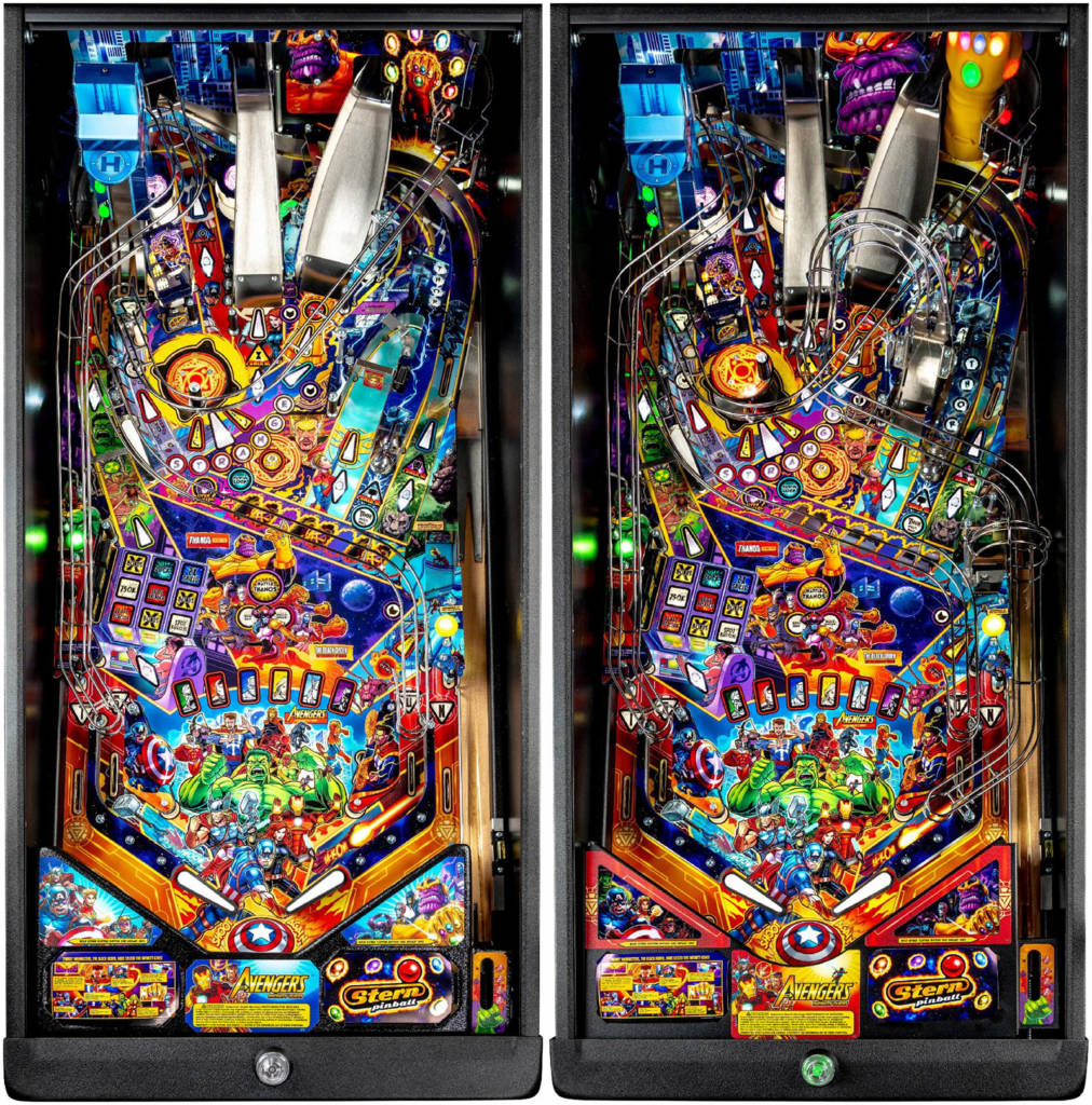 The Pro playfield vs the Limited Edition playfield