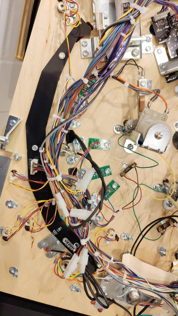 The left orbit LED board