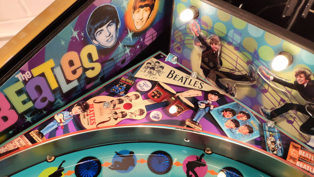 Artwork at the top left of the playfield