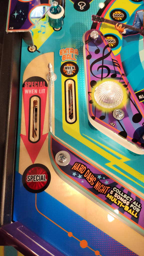 The bottom-left of the playfield