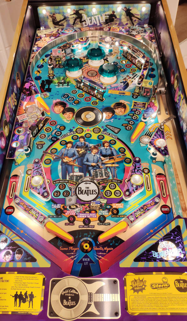 The Beatles: Beatlemania Pinball playfield