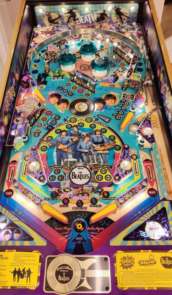 The Beatles: Beatlemania Pinball playfield