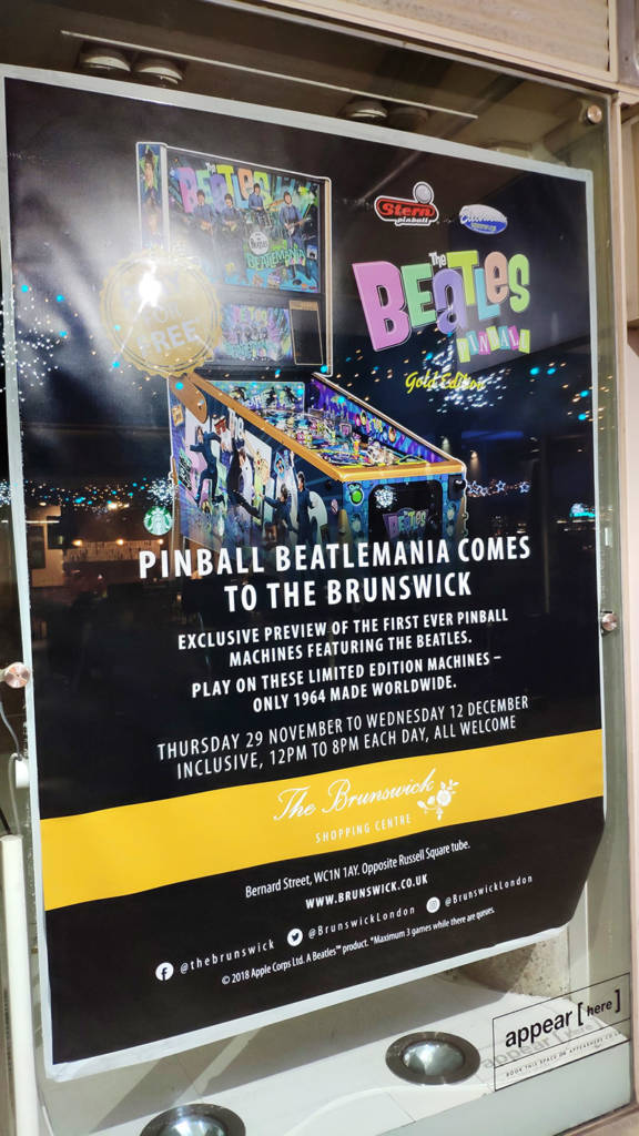 Posters in store windows around the Brunswick Centre