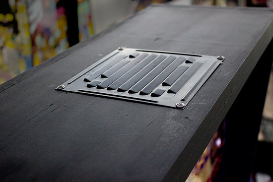 The air vent on the top of the backbox