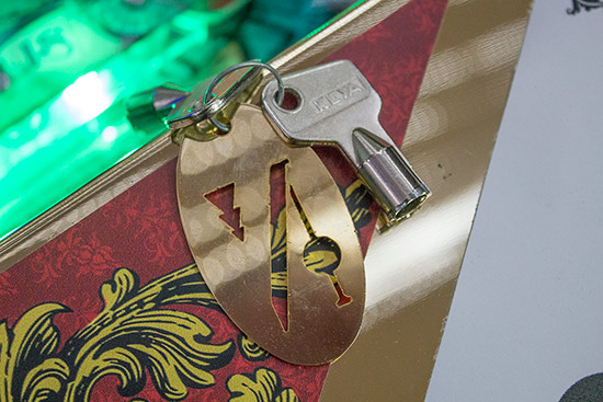 The laser-cut key fob