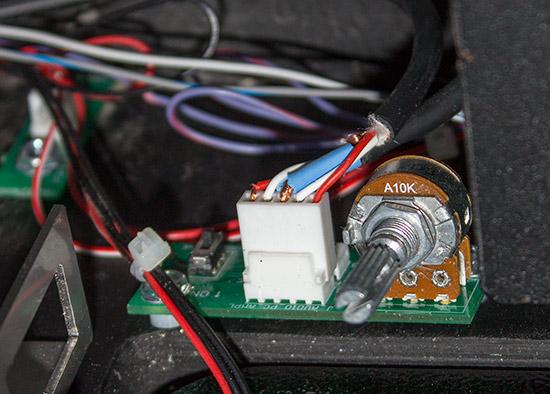 The volume control board