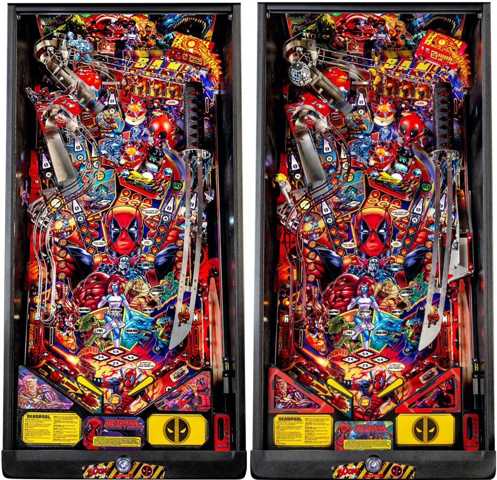 The Pro (left) and Premium (right) playfields