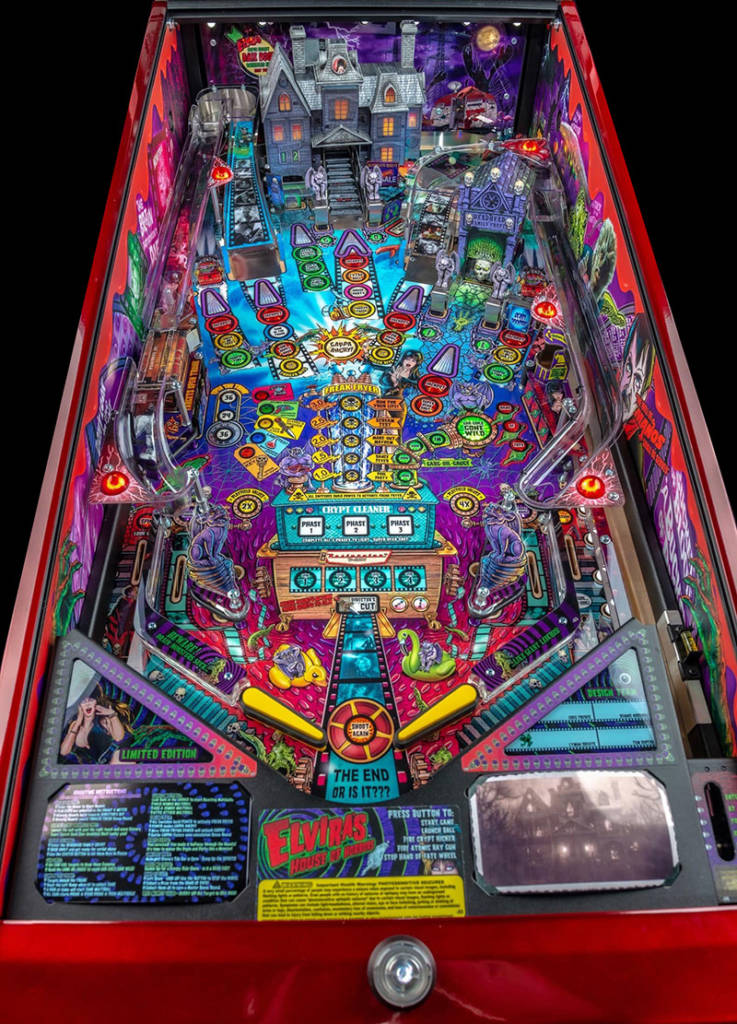 The Limited Edition model's playfield