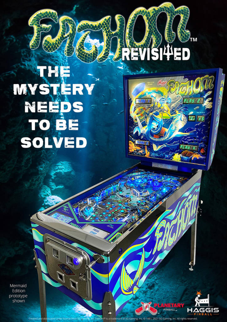 The flier for Haggis Pinball's Fathom Revisited