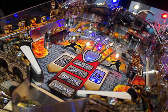 The upper playfield