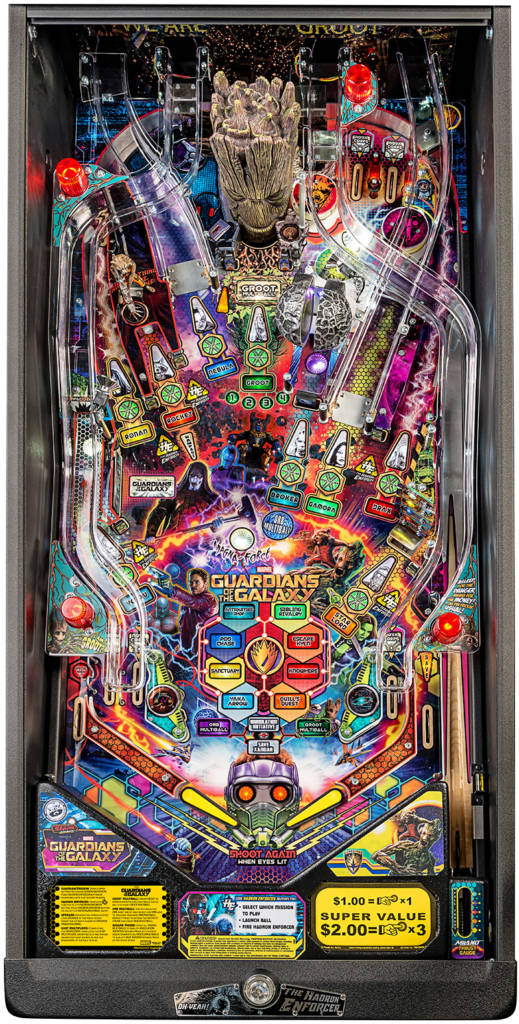 Guardians of the Galaxy Pro playfield