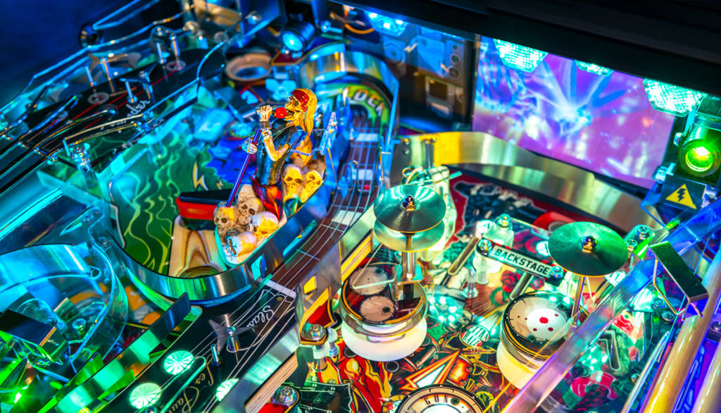 The back left of the playfield