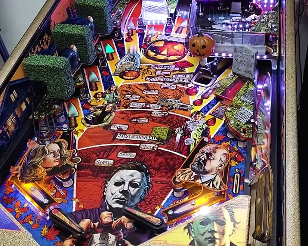 The main playfield area