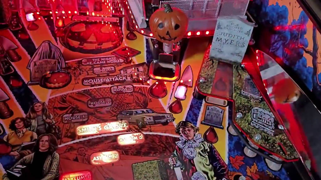 Close-up detail of the mid-playfield area