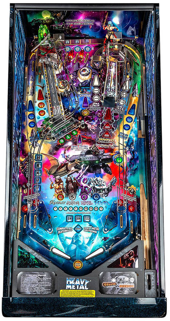 The Heavy Metal playfield
