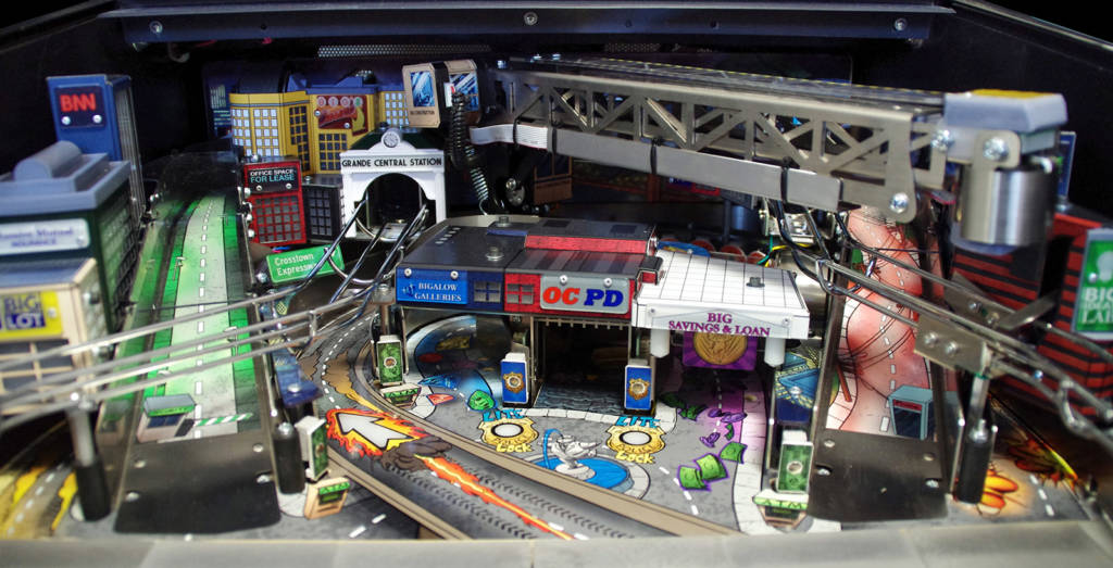 Some of the assemblies and shots on the Heist! playfield module
