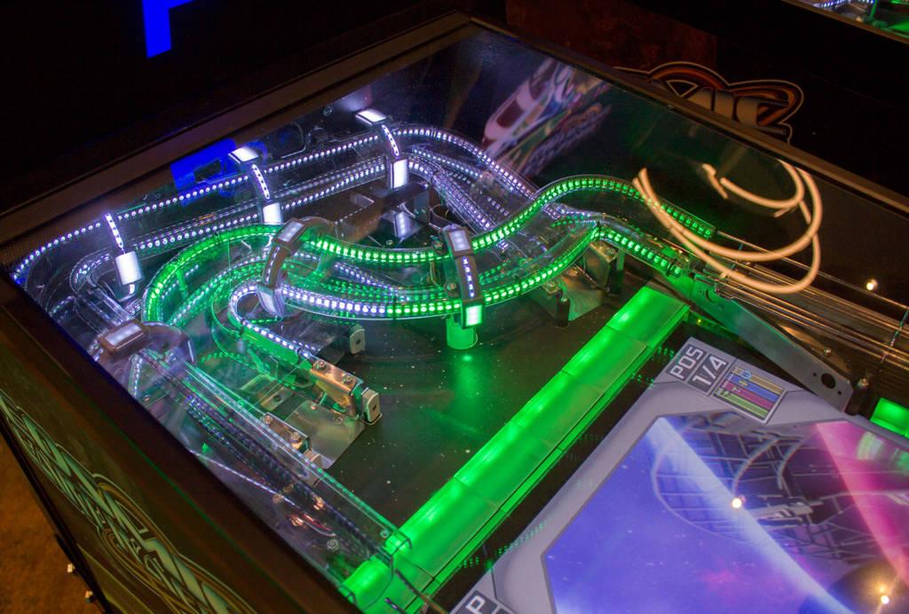 The Cosmic Cart Racing upper playfield module
